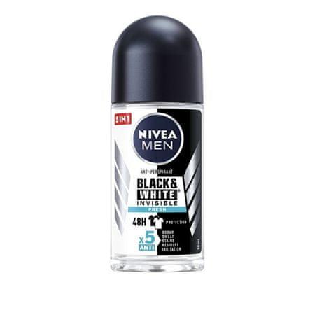 Nivea Golyós izzadásgátló férfiaknak Black&White Fresh 48 órás védelemmel (Anti-Perspirant) 50 ml