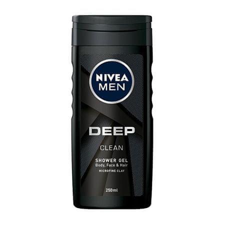 Nivea Żel pod prysznic dla mężczyzn Deep (Clean Shower Gel) 250 ml