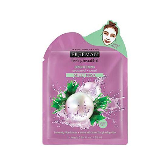 Freeman Rozjasňující látková maska Mořská řasa a perlové výtažky (Brightening Sheer Mask) 25 ml