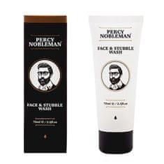 Percy Nobleman Arc-, és arcszőrzettisztító zselé (Face & Stubble Wash) 75 ml