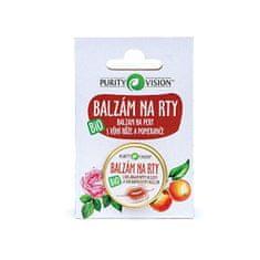 Purity Vision Pielęgnujący balsam do ust BIO o zapachu róży i pomarańczy 12 ml