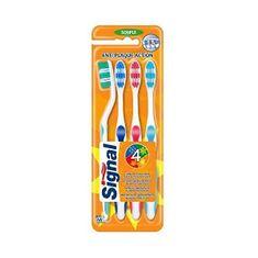 Měkký zubní kartáček Anti-Plaque 4 ks