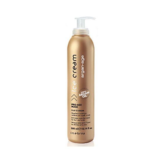 Inebrya Maska proti zacuchání a krepatění vlasů Ice Cream Argan-Age (Pro-Age Mask) 300 ml