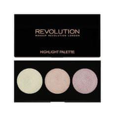 Makeup Revolution Paletka 3 rozjasňovačů (Highlighter Palette - Highlight) 15 g