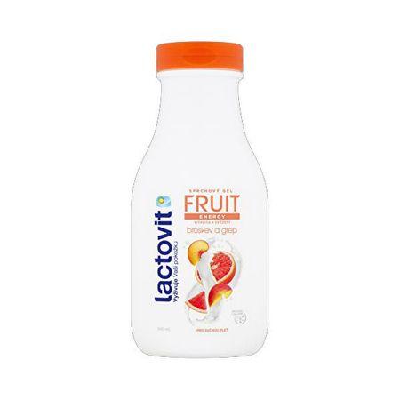 Lactovit Energiczny żel pod prysznic Peach & Grapefruit (Fruit Shower Gel) (cień 300 ml)