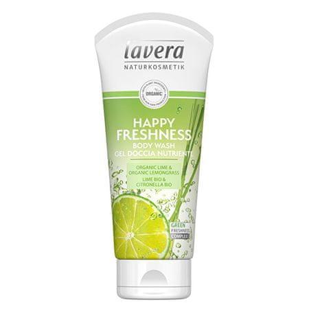 Lavera Zuhany és fürdő gélHappy Freshness Bio limet és Bio citromfű (Body Wash Gel) 200 ml