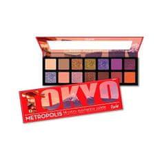 Rude Cosmetics Paletka 14 očních stínů Metropolis Tokio (Eyeshadow Palette) 14 g