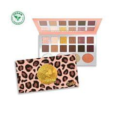 Rude Cosmetics Paletka 12 očních stínů a 4 rozjasňovačů Leopardina (Eyeshadow Palette)