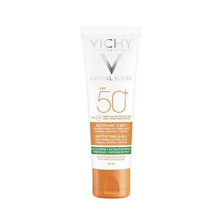 Vichy Mattító védő arckrém 3in1 Capital Soleil SPF 50+ 50 ml