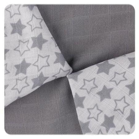 XKKO bambusz szalvéta 30x30 - Little Stars ezüst keverék (9db)
