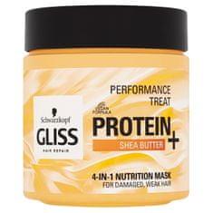 Gliss Kur Vyživujúci maska pre jemné, poškodené vlasy 4v1 (4-in-1 Nutrition Mask) 400 ml