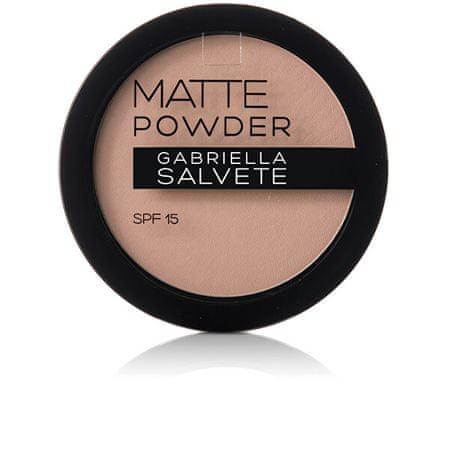 Gabriella Salvete Mattító púder SPF 15 Matte Powder 8 g (árnyalat 02)