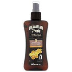 Hawaiian Tropic Suchý olej na opalování s rozprašovačem SPF 8 Protective (Dry Spray Oil) 200 ml