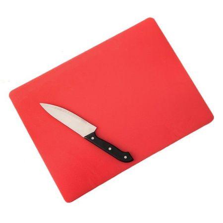 Kraftika Deska do krojenia 40 × 30 cm, grubość 1,2 cm, kolor czerwony