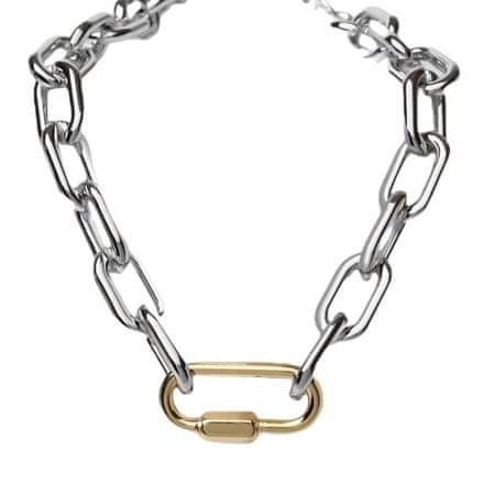 """Kraftika Nyaklánc"""" lánc """"csavar, arany-ezüst színű, 50 cm"""