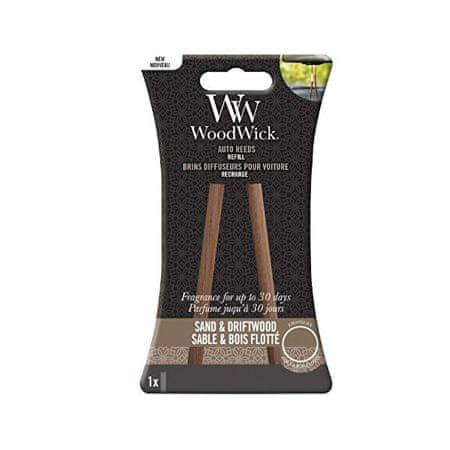 Woodwick Nadomestne kadilne palice za avtomobile Sand & Dritwood (Auto Reeds Refill)