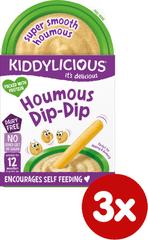 Kiddylicious Original hummus 3x52g
