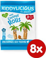 Kiddylicious Kokosové chrumkavé trubičky 8x6,8g g