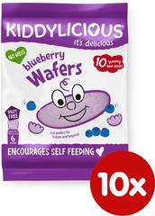 Kiddylicious Ryžové oblátky - Čučoriedka - 10x4g