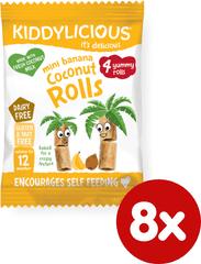 Kiddylicious Trubičky s kokosom a banánom - 8x6,8g