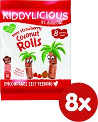 Kiddylicious Trubičky s kokosom a jahodami - 8x6,8g g