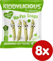 Kiddylicious Snack hráškové struky 8x15 g