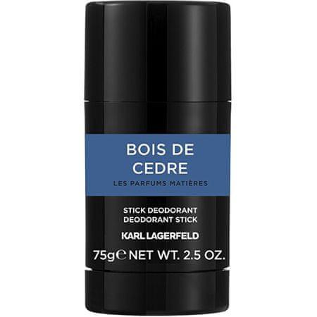 Karl Lagerfeld Bois De Cédre - tuhý deodorant 75 ml