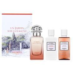 Hermès Un Jardin sur la Lagune- woda toaletowa 50 ml + mleczko do ciała 40 ml + żel pod prysznic 40 ml