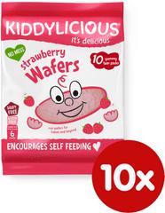 Kiddylicious Ryžové oblátky - Jahoda - 10x4g