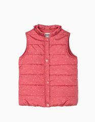 Zippy Polstrovaná vesta pro dívčí body, růžová