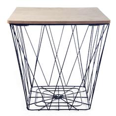 Tempo Kondela Příruční stolek, přírodní/černá, AZURO