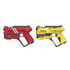 Wiky Laser hra pre dvoch 22cm - žltá a červená farba