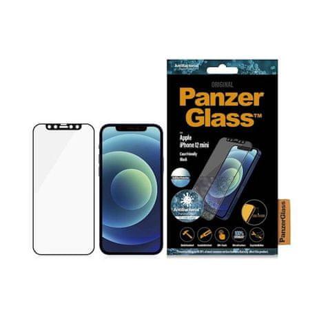 PanzerGlass Zaštitno staklo za iPhone 12 Mini, kaljeno, crno