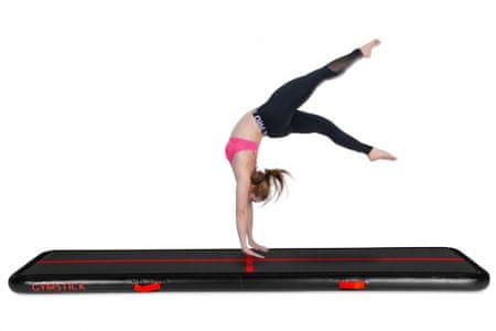 Gymstick Air Track blazina, gimnastična, črno-rdeča