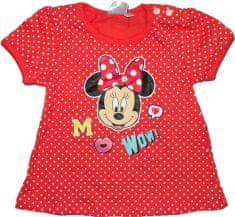 Disney Baby tričko červené puntíkaté s Minie.