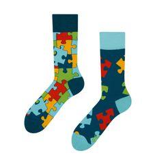 Good mood GMRS101 veselé ponožky - puzzle Barva: modrá, Velikost oblečení: 35-38