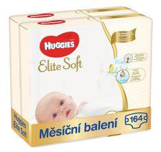 Huggies mesačné balenie 2x Elite Soft Newborn (3-5 kg) 164 ks