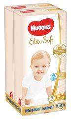 Huggies mesačné balenie 2x Elite Soft (12-22 kg) 112 ks