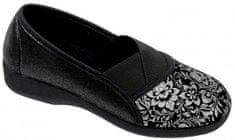 Nursing Care GOJI elastická obuv dámská černá se stříbrným potiskem O6968-F48 Nursing Care Velikost: 35