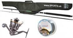 Sports Výhodný prívlačový set - prút+naviják+vlasec+púzdro