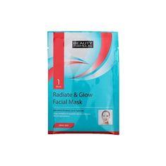 Beauty Formulas Bőrvilágosító arcápoló maszk (Radiate & Glow Facial Mask) 1 db