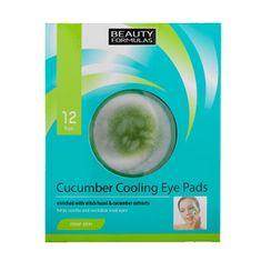 Beauty Formulas Hűsítő szempárnák (Cucumber Cooling Eye Pads) 12 db