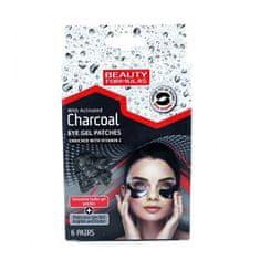 Beauty Formulas Aktívszenes szempárnákCharcoal(Eye Gel Patches) 6 pár