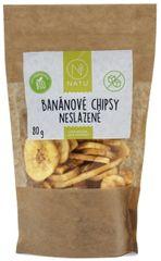 Natu Banánové chipsy nesladené BIO 80g