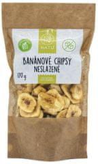 Natu Banánové chipsy nesladené BIO 170g