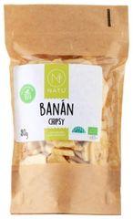 Natu Banánové chipsy BIO 80g