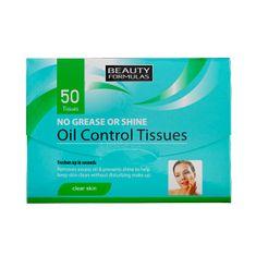 Beauty Formulas Mattító arc törlőkendők(Oil Control Tissues) 50 db