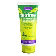 Beauty Formulas Tisztító maszk Tea Tree (Deep Cleansing Face Mask) 100 ml