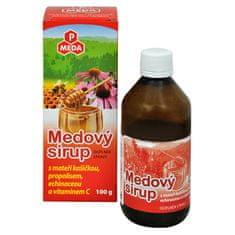 Purus Meda PM Medový sirup s materskou kašičkou, propolisom, echinaceou a vitamínom C 100 g