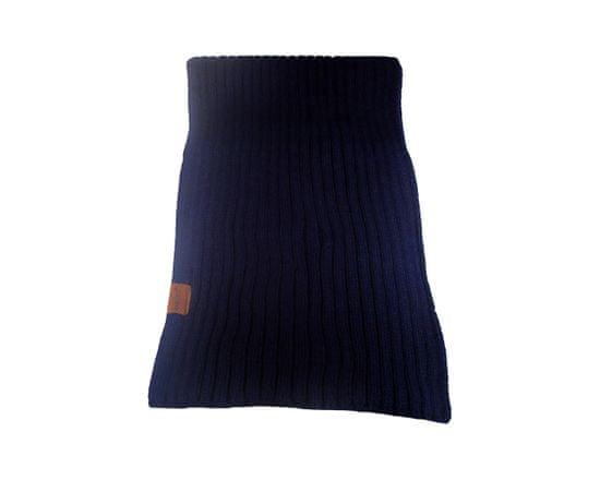 ORSI Zimní šála pletená 25x175 tmavě modrá